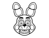 Desenho de Cara de Toy Bonnie de Five Nights at Freddy's para colorear