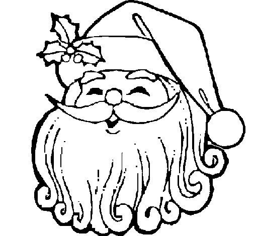 Desenho de Cara Natal para Colorir