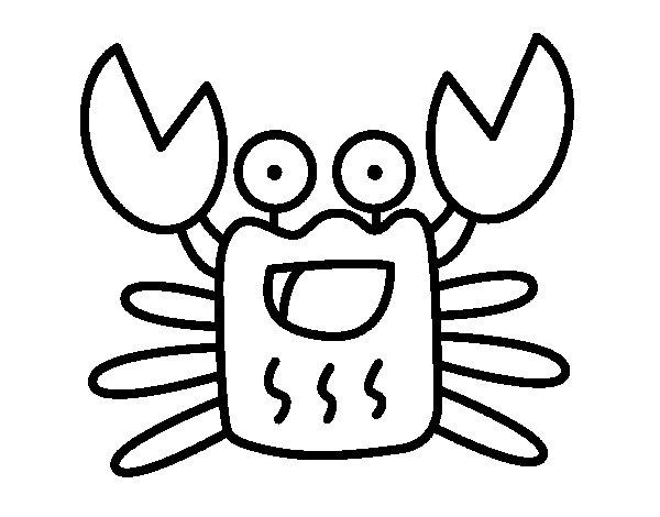 Desenho de Caranguejo allegro para Colorir