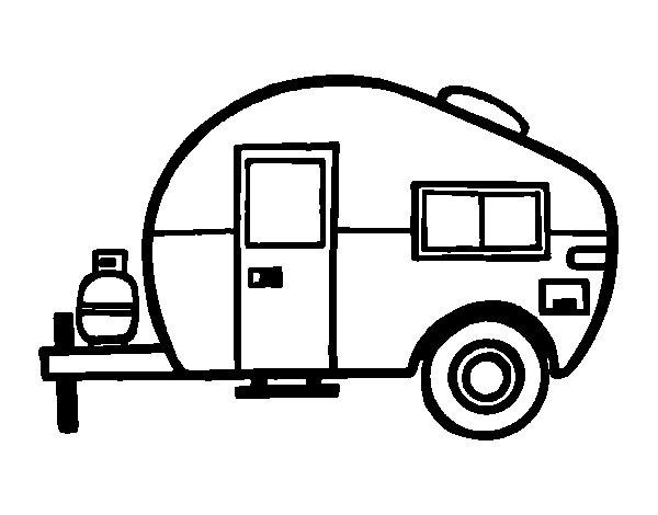 Desenho de Caravana moderna para Colorir