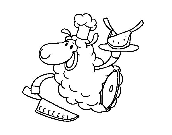 Desenho de Carne de cordeiro para Colorir