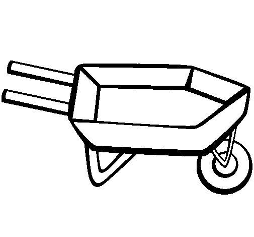 Desenho de Carrinho de mão para Colorir