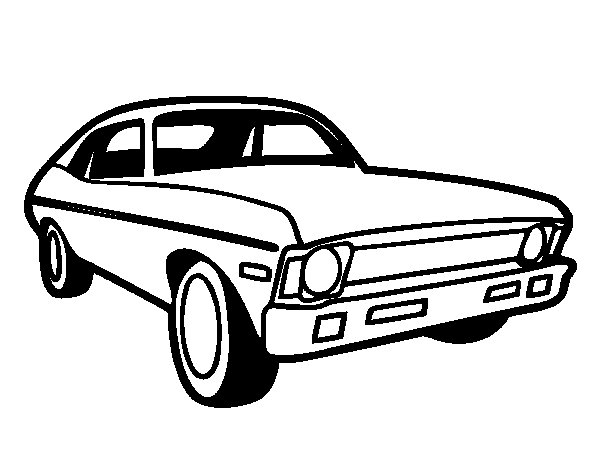 Desenho de Carro americano para Colorir