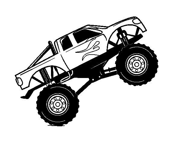 Desenho de Carro bigfoot para Colorir