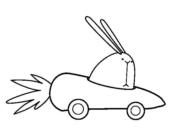 Desenho de Carro cenoura para Colorir