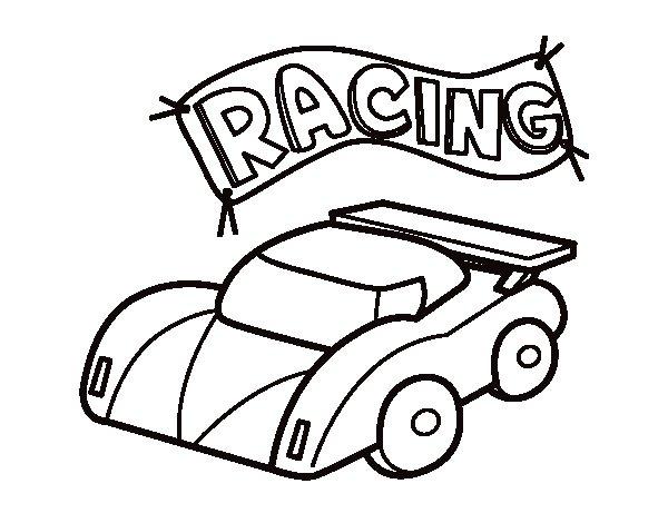 Desenho de Carro de competição para Colorir