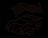 Desenho de Carro de competição para colorear