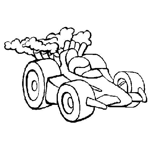 Desenho de Carro de Fórmula 1 para Colorir