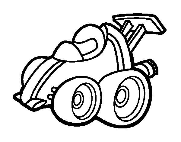 Desenho de Carro de Fórmula 1 micro para Colorir