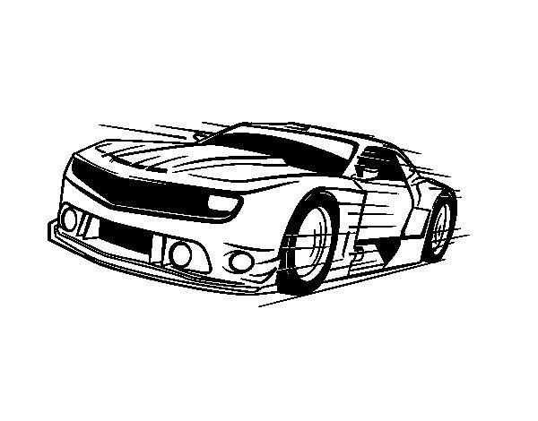 Desenho de Carro desportivo veloz para Colorir