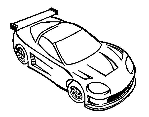Desenho de Carro moderno para Colorir