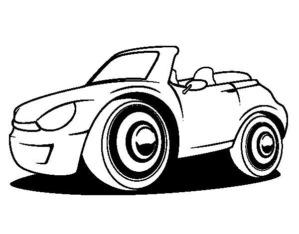 Desenho de Carro novo para Colorir