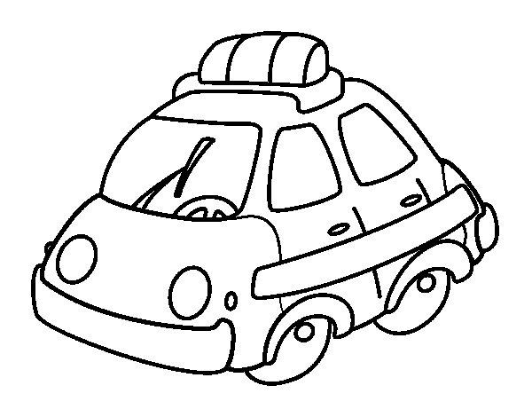 Desenho de Carro patrulha para Colorir