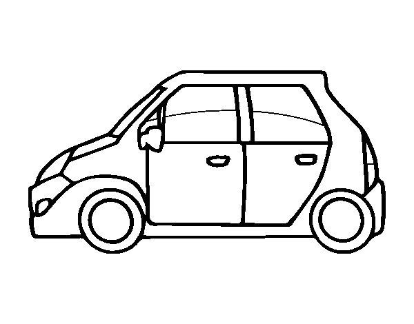 Desenho de Carro pequeno para Colorir