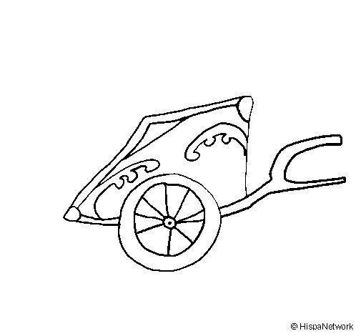 Desenho de Carroça romano para Colorir