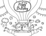 Dibujo de Cartão de feliz aniversário