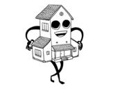 Desenho de Casa agradável para colorear
