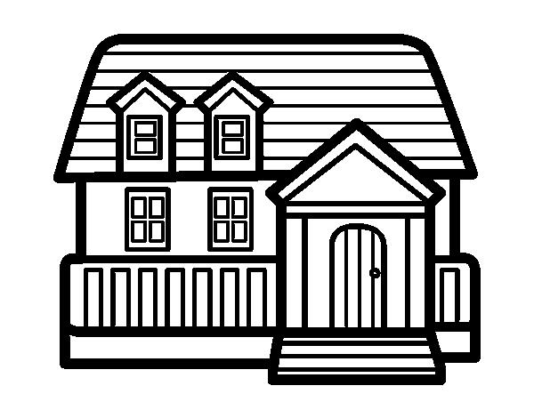 Desenho de casa americana para colorir - Fotos de casas para dibujar ...