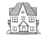 Desenho de Casa com varandas para colorear