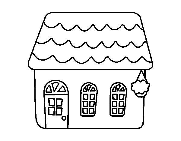 Desenho de casa de conto para colorir - Imagenes de casas para dibujar ...