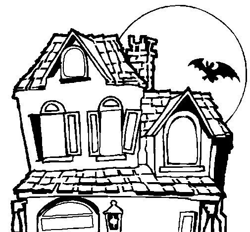 Desenho de Casa do mistério para Colorir