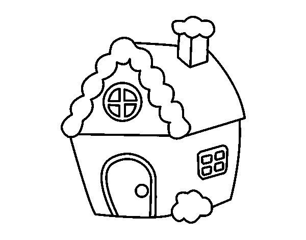 Desenho de casa especial natal para colorir - Para pintar casas ...