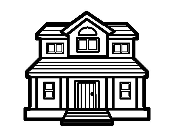 Desenho de casa vitoriana para colorir - Formas de pintar una casa ...