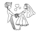 Desenho de Casado e no amor para colorear