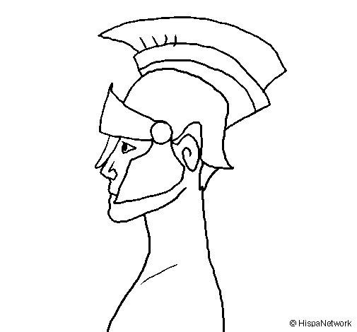 Desenho de Casco romano para Colorir