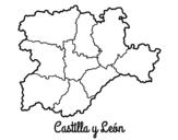 Desenho de Castela e Leão para colorear