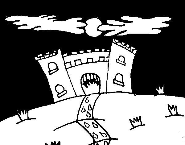 Desenho de Castelo maléfico para Colorir