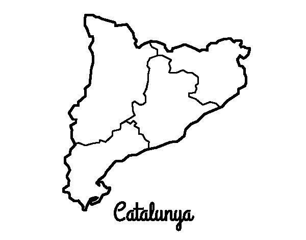 Desenho de Catalunha para Colorir