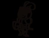 Desenho de Cavaleiro com um bigode para colorear