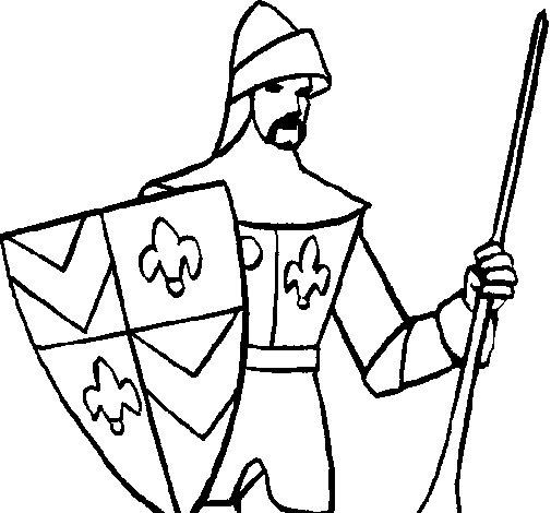 Desenho de Cavaleiro da corte para Colorir