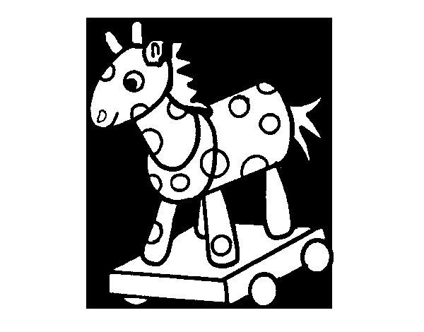 Desenho de Cavalo de madeira para Colorir