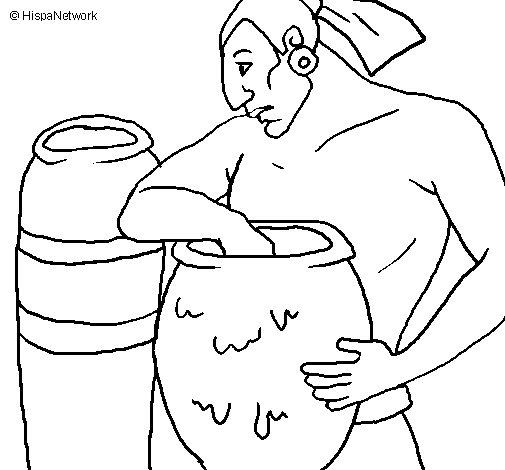 Desenho de Ceramista para Colorir