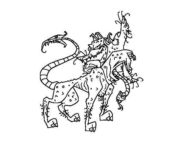 Desenho de Cérbero para Colorir