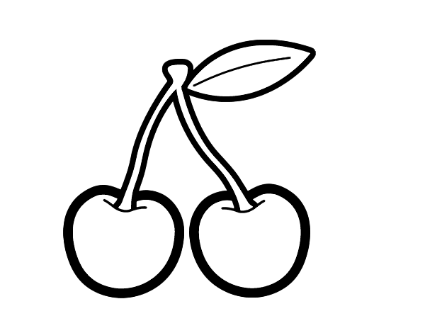Desenho de cereja cida para colorir - Dessin cerise ...