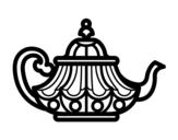 Desenho de Chaleira Árabe para colorear