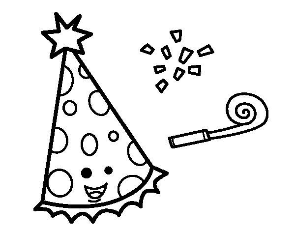 Desenho de Chapéu de festa para Colorir