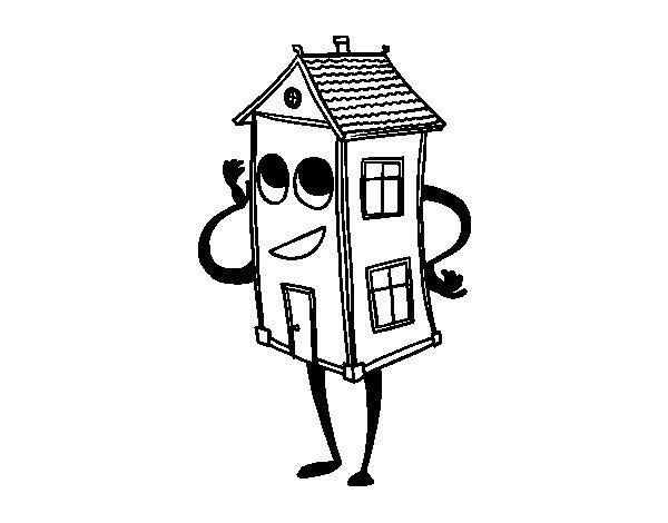 Desenho de Charmosa casa para Colorir