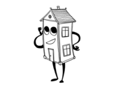 Desenho de Charmosa casa para colorear