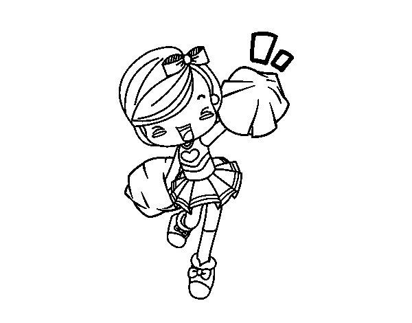 Desenho de Cheerleader para Colorir