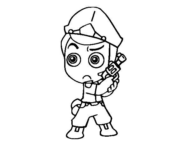 Desenho de Chefe da polícia para Colorir