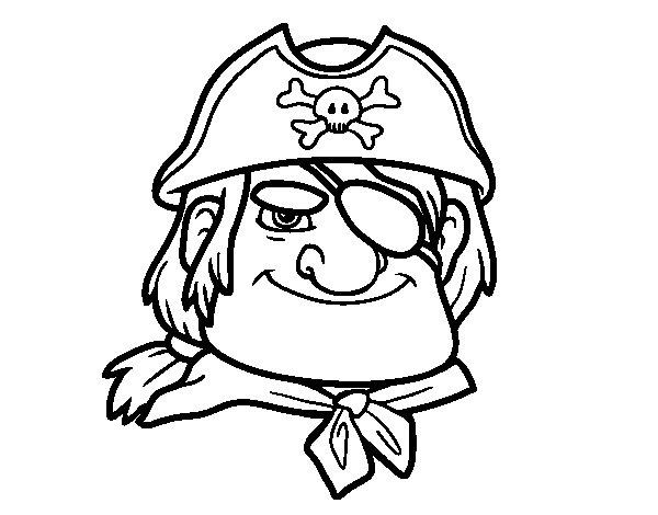 Desenho de Chefe pirata para Colorir