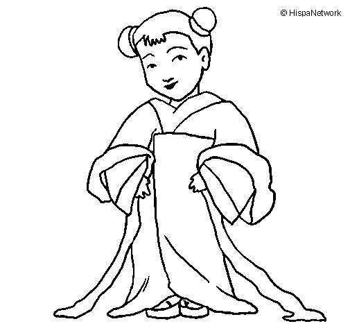 Desenho de Chinesita para Colorir