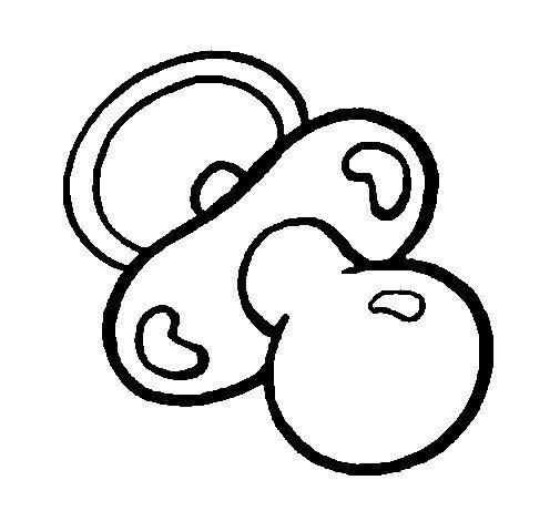 Desenho de Chupeta para Colorir