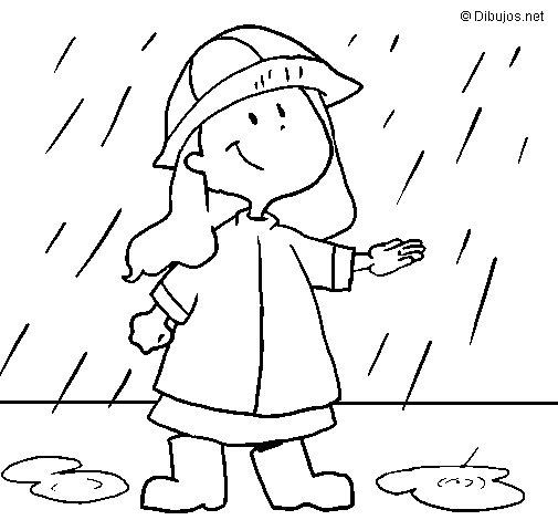 Desenho de Chuva para Colorir