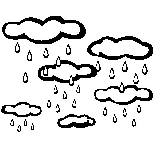 Desenho de Chuvoso para Colorir