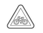 Desenho de Ciclistas para colorear